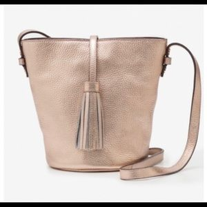 Boden rose gold tana crossbody leather bag